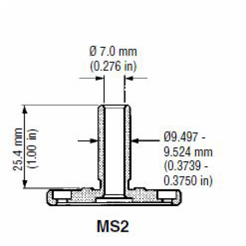 CMM probe shank MS2