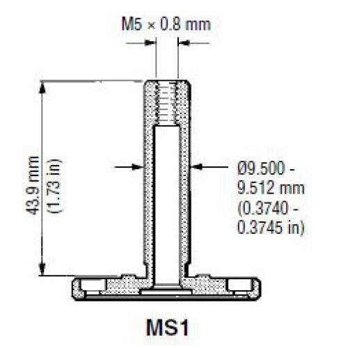 CMM probe shank MS1