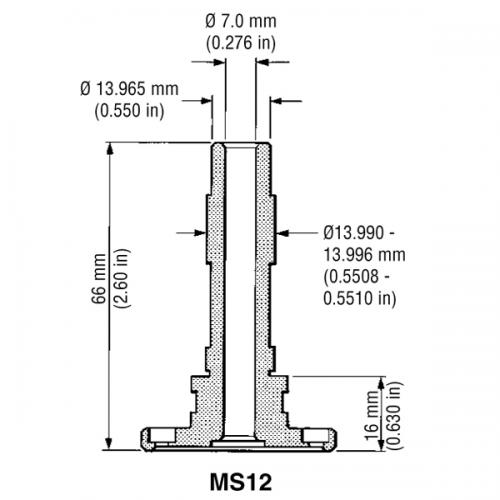 CMM probe shank MS12