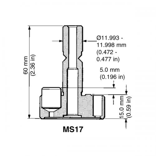 CMM probe shank MS17